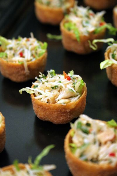 Thepassionatecook asian crab salad croustades for Asian canape ideas