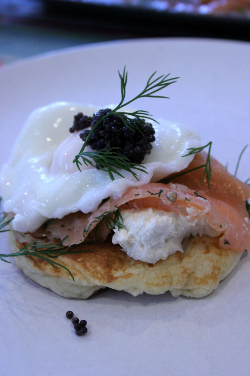 Potatopancakessalmoncaviar