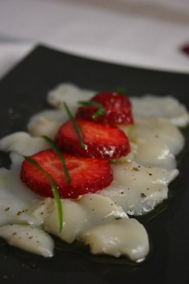 Scallopstrawberryceviche