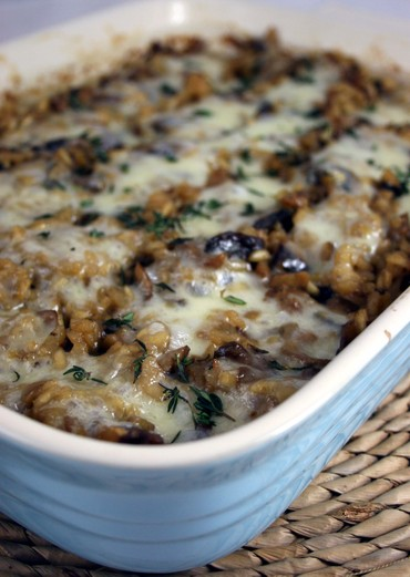 thepassionatecook: Oven-baked mushroom risotto